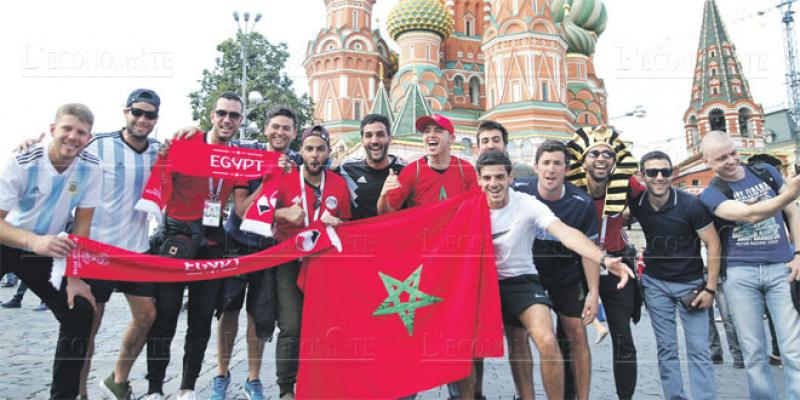 Les supporters marocains mettent l'ambiance à Moscou