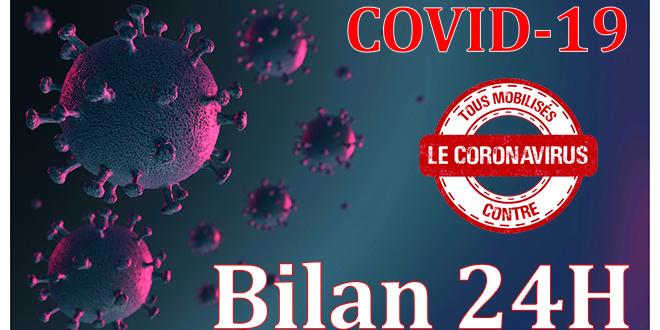 Covid19: nouveaux cas en 24H