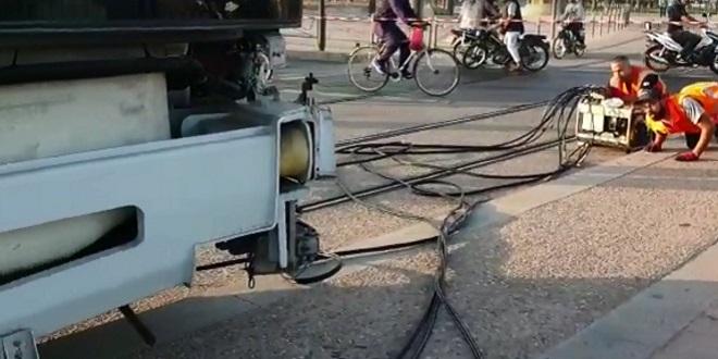 Casablanca: Un chauffard fait dérailler le tramway