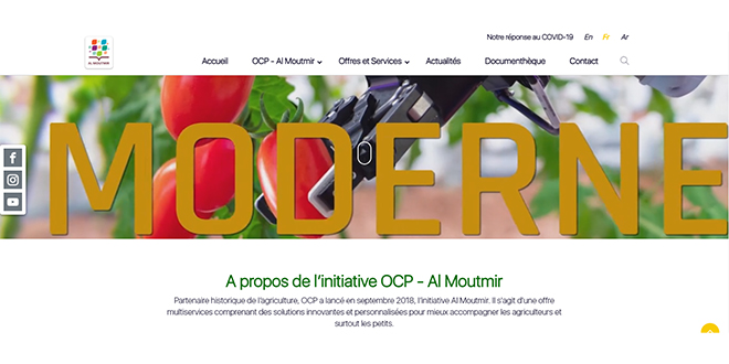 L'OCP lance le site de l'initiative Al Moutmir