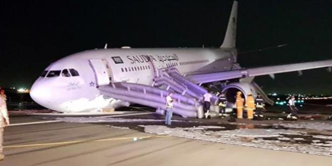Atterrissage d'urgence d'un avion de la Saudia