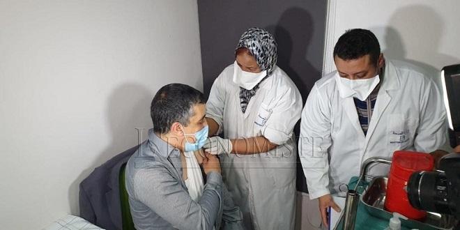 DIAPO/ Covid 19: Les professionnels de santé, dix premiers vaccinés à Marrakech