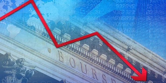 Chute des bourses mondiales