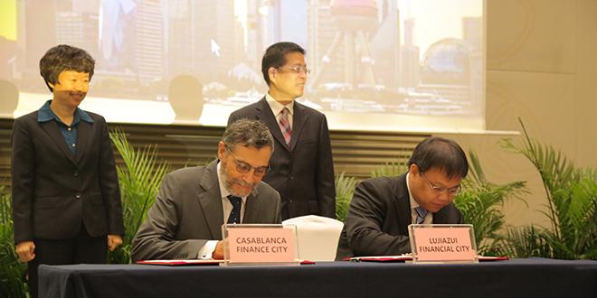 CFC signe avec le centre financier de Shanghai