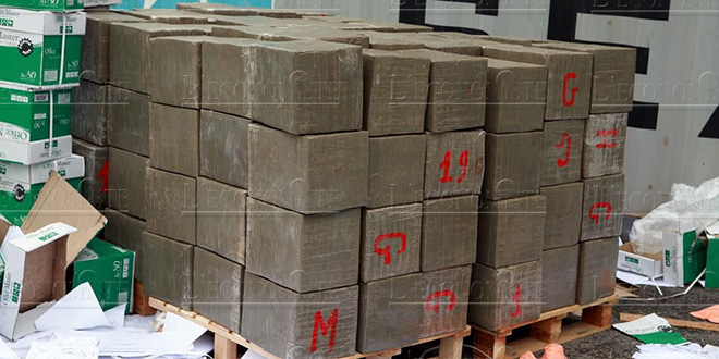 Saisie près de Casablanca de plus de 5 tonnes de chira