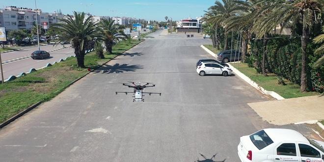 Covid19: Farasha Systems présente ses drones à Harhoura