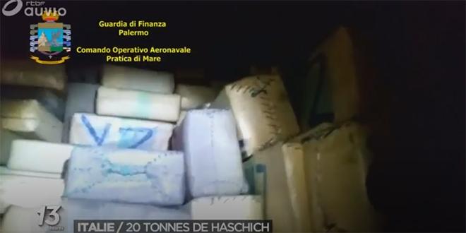 Grosse saisie de haschich en Italie