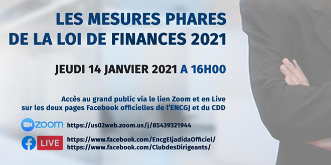 Conférence sur les mesures phares de la loi de finances 2021