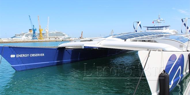 DIAPO/ L'Energy Observer arrive au port de Tanger