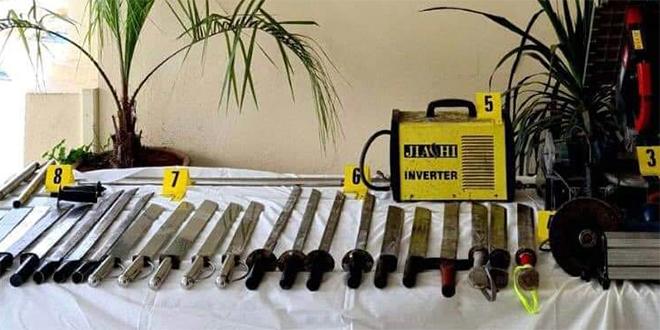 Fès-DGSN: Arrestation de 9 fabriquants de sabres!