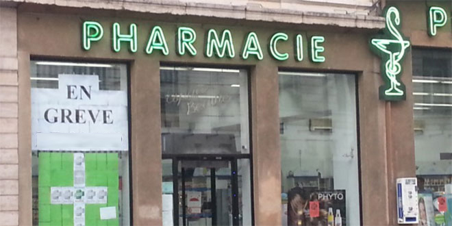 Les pharmaciens d'officine en grève