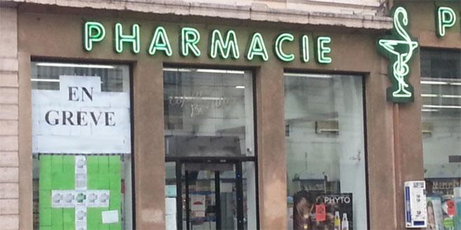 Les pharmaciens d'officine en grève