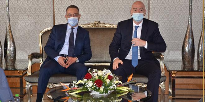 Foot: Infantino en visite au Maroc