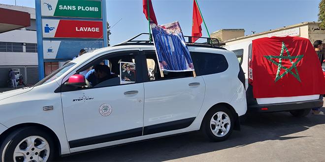 Fès: Les taximen manifestent devant le palais royal
