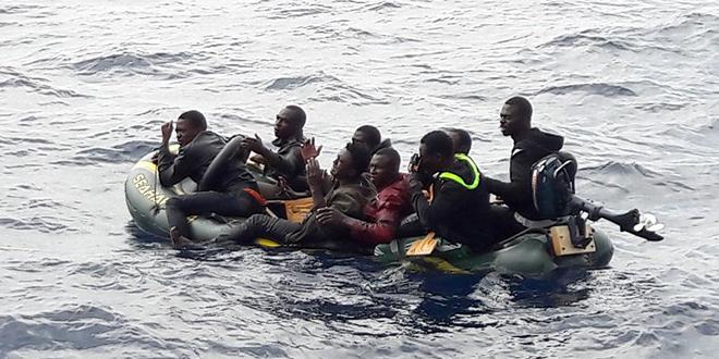 La Marine Royale secourt 247 migrants