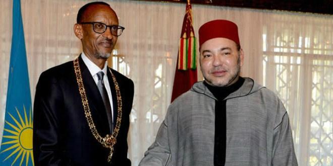 Le Roi Mohammed VI s'entretient avec Paul Kagame