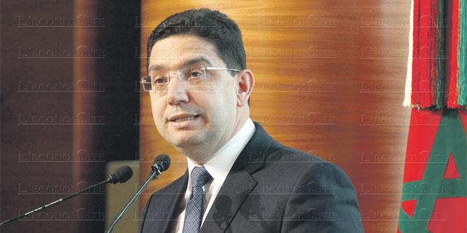 """Bourita: """"Le Maroc n'a pas pour obligation de protéger les frontières autres que les siennes"""""""