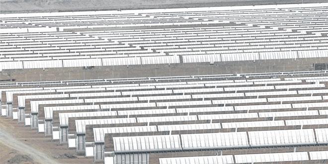 Un système de stockage d'énergie thermique à Noor Ouarzazate