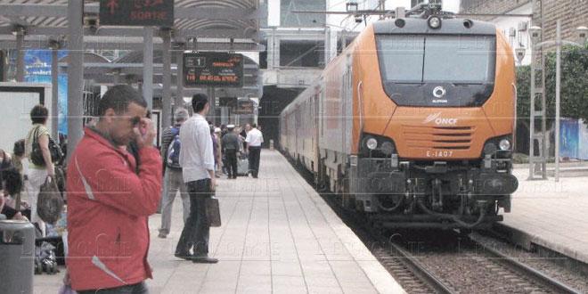 Déraillement d'un train à Bouskoura