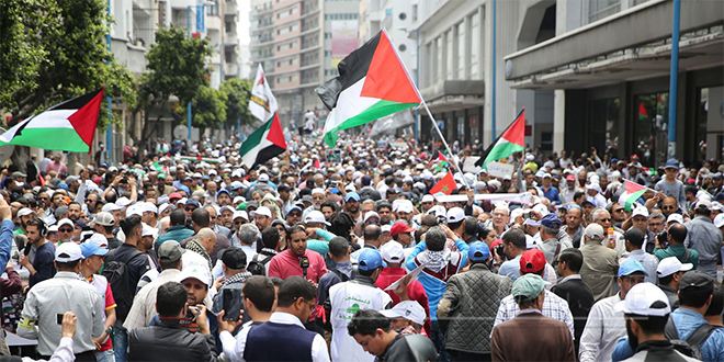 "Palestine : Sit-in à Rabat contre ""l'accord du siècle"""