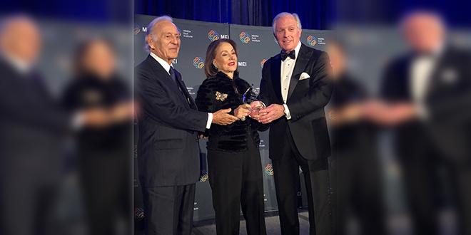 Washington: Le Middle East Institute prime Othman Benjelloun et Leila Mezian