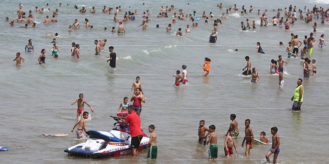 Réouverture de la plage de Rabat au public