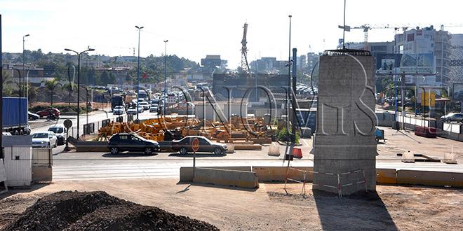 Phase décisive pour le pont à haubans de Sidi Maârouf