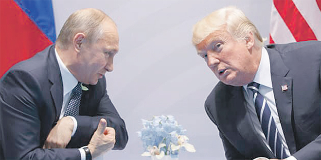 Une brève rencontre entre Poutine et Trump
