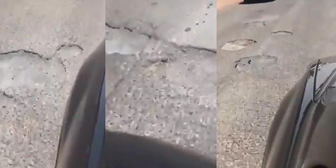 VIDEO/ Aéroport de Casablanca/ L'état désastreux de la route menant au service fret