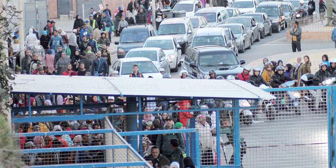 Sebta: Un premier groupe de Marocains est rentré