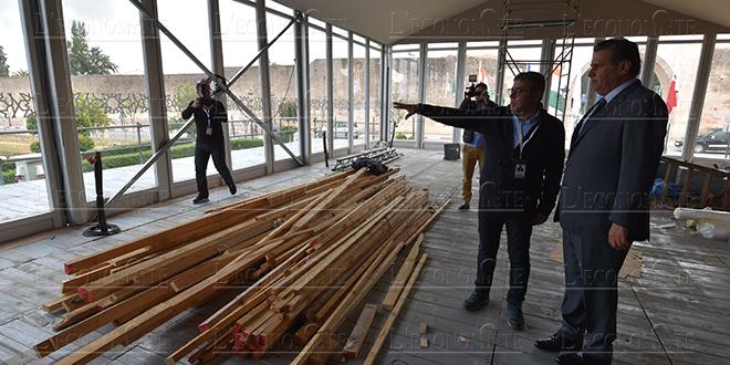 Akhannouch se rend au chantier du SIAM