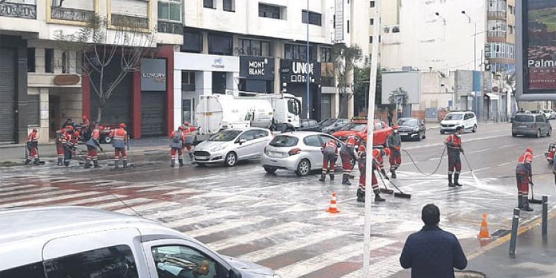 Casablanca généralise la désinfection