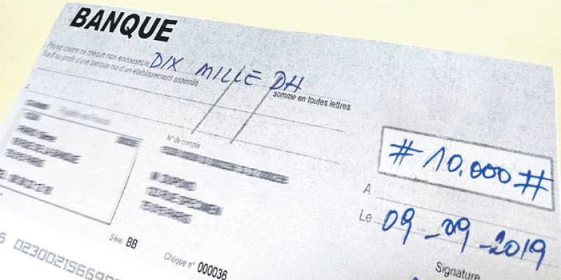 Chèques: Attention au stylo magique!