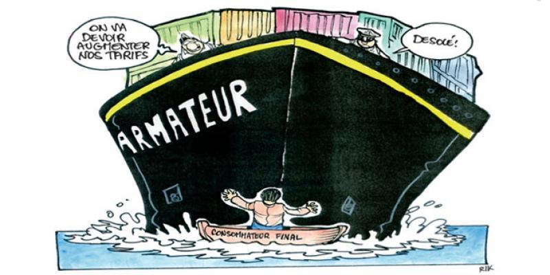Hausse des tarifs du fret maritime