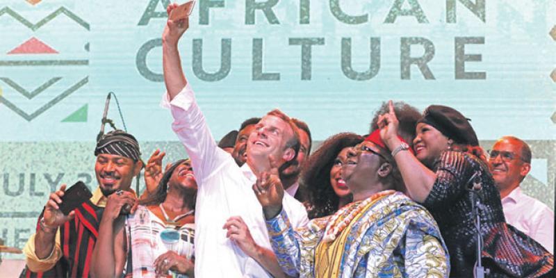 Macron célèbre la créativité africaine à Lagos