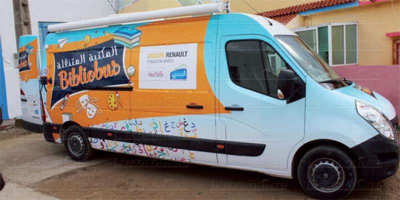 Tanger: Le Bibliobus de Renault en tournée