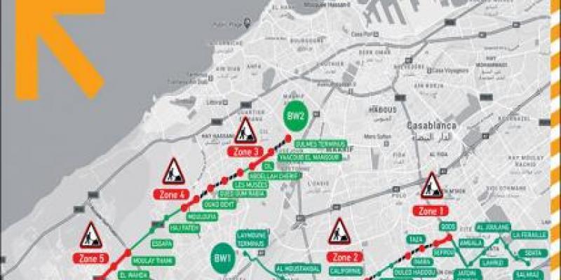 Casablanca: Attention, nouveaux chantiers de tram et BHNS