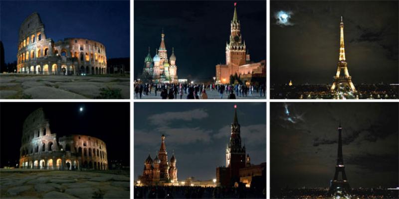 Des villes du monde entier éteignent leurs lumières pour la planète