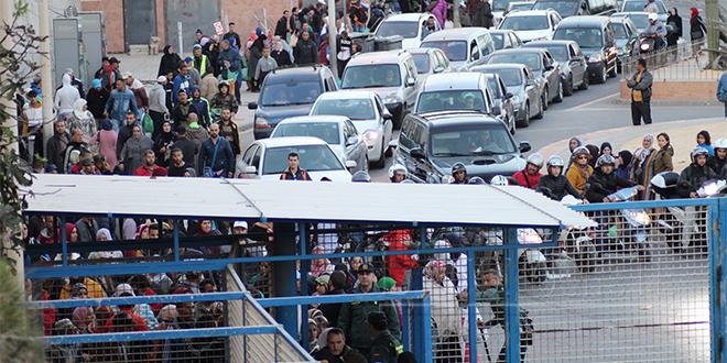 Sebta: Le passage frontalier toujours fermé