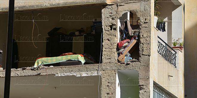Fès : Effondrement partiel d'un immeuble