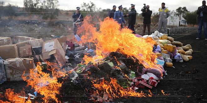 Agadir: Une grosse quantité de drogue détruite